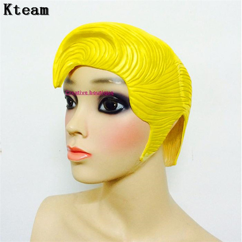Mascara Women's Wig Anime Latex Yellow/Red/Blue Party Head Mask Costume Cosplay Theater Prop