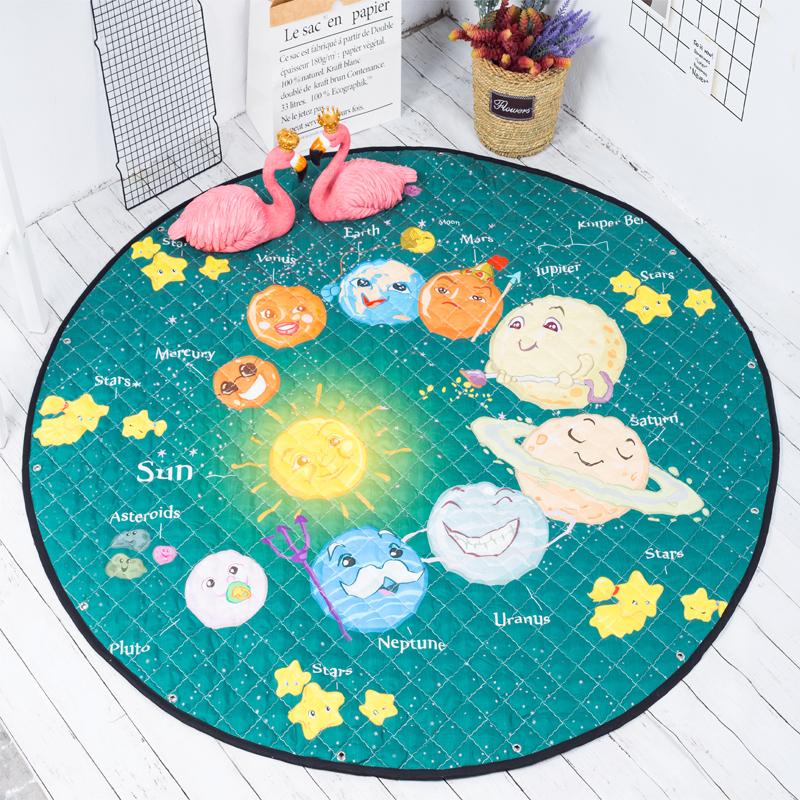 FasterS ABC Kids Rug Round Alphabet Rug Baby Mat Nursery Activity Rugs Boys Girls Play Mat Crawling Mat Circular Rug Nordic Decor