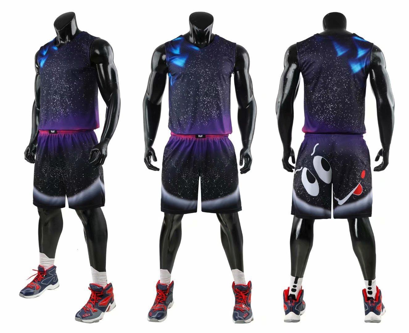 Cartoon Men Throwback Basketball Jerseys Suits Blank Women Team Tracksuits Basketball Jerseys Clothes Uniforms Customized