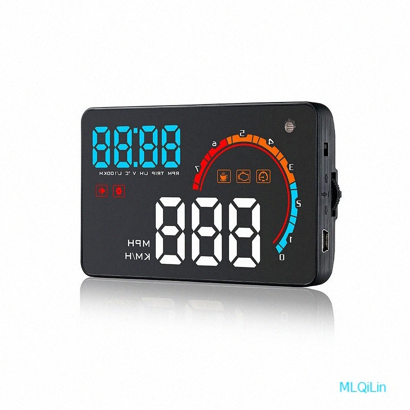 HUD display OBD2 Universal HUD Head Up Display F/ür Auto Mit OBD II Port EUOBD Plug /& Play Multi-Color Controller Bildschirm