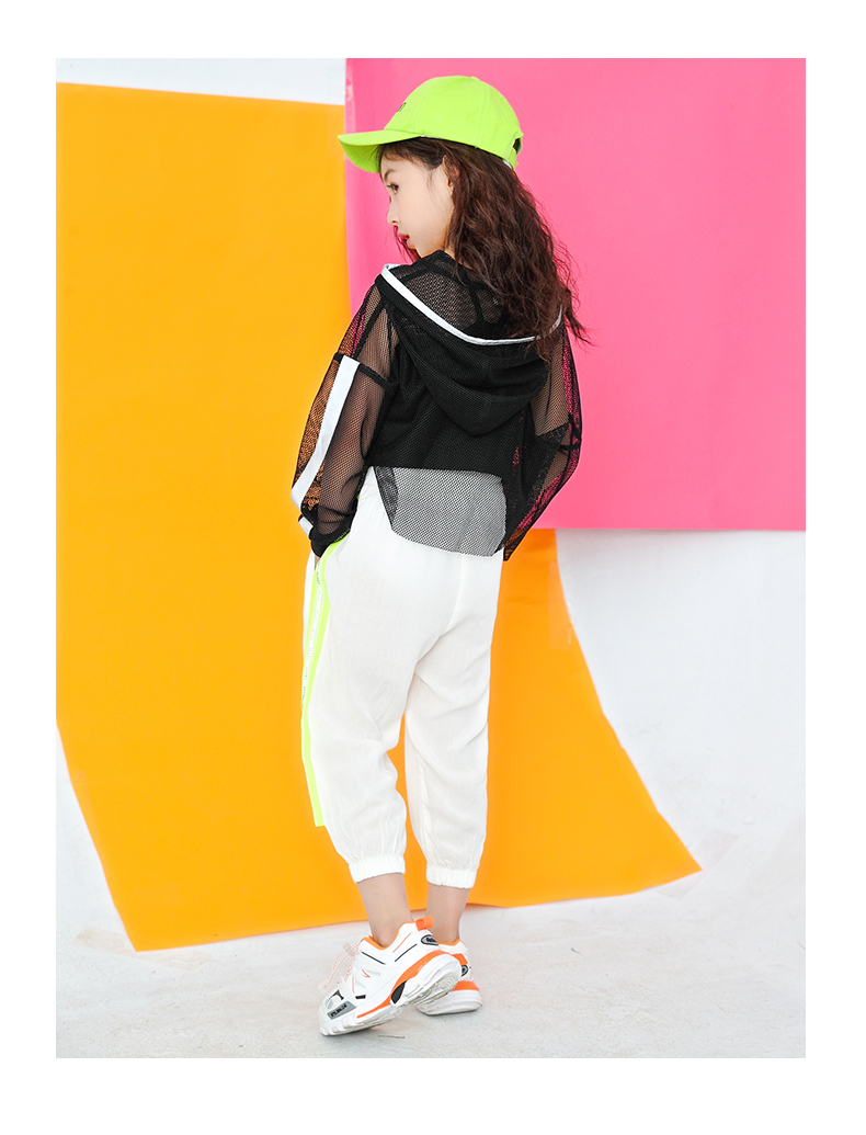 Toddler Girls Oversize Full Sleeve Hoodies Hip Hop Ballroom Jazz Dance Costumes Kids Boy Skirttrousers Clothing Set Team Wear (13)