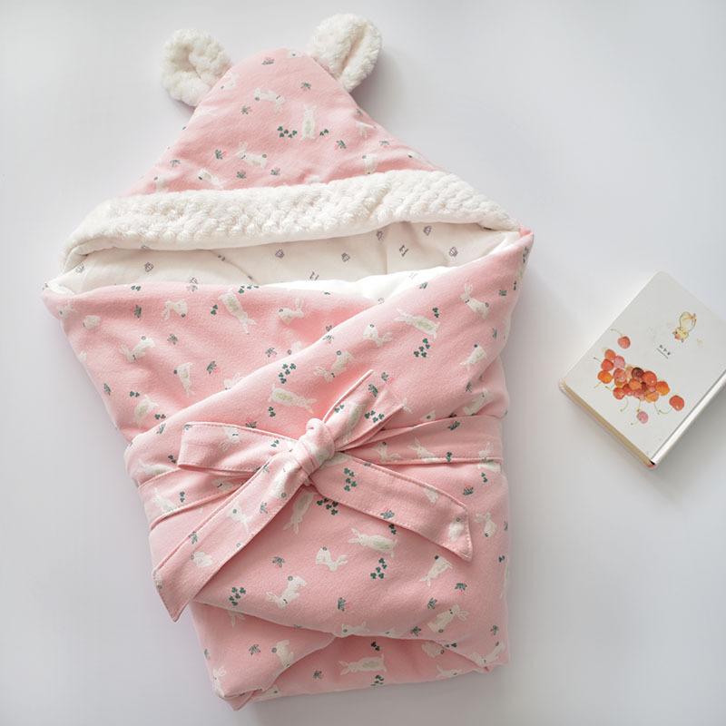 MOTOHOOD Winter Baby Blankets Newborn Swaddle Muslin Swaddle Baby Wrap Warm Baby Blanket Cotton Stroller Blankets (1)
