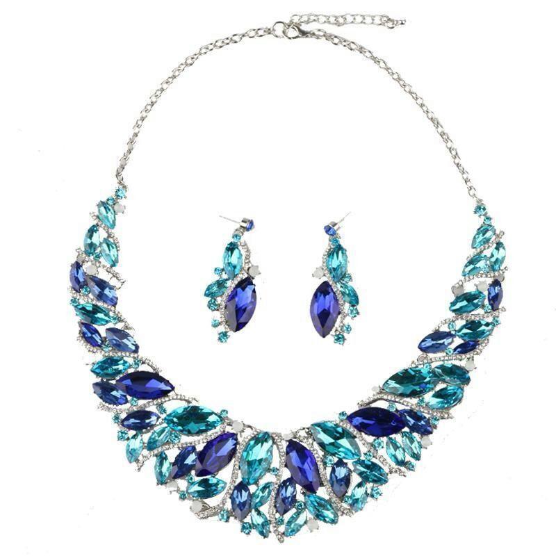 Dubai Luxury Crystal Wedding Jewelry