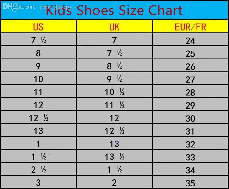kid shoe size 35 in us