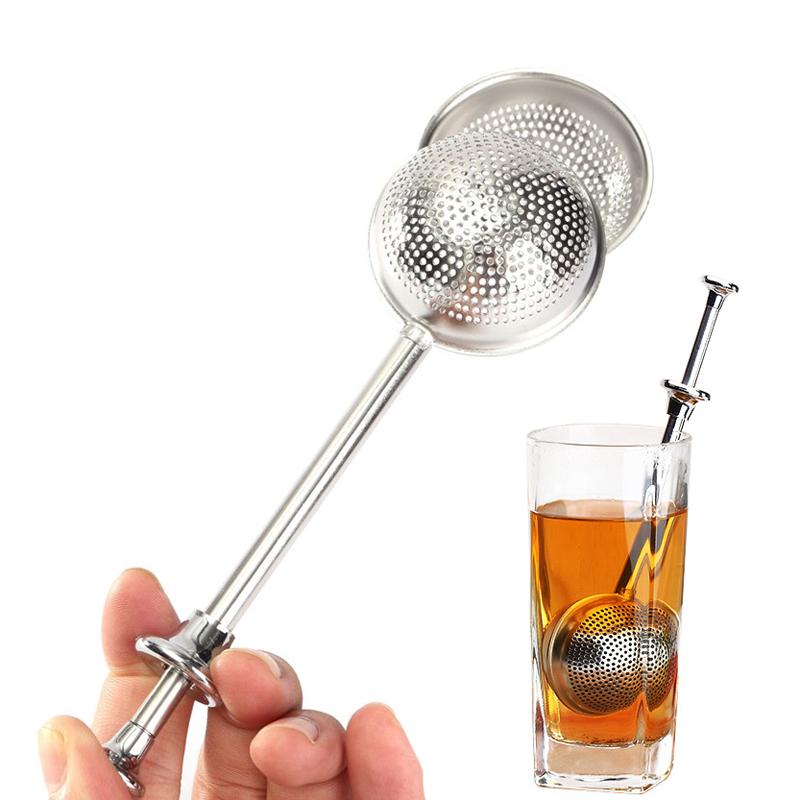 Stainless Steel Tea Infuser Mesh Teapot Tea Strainer Filter Reusable Ball Shape Metal Tea Bag Spice Herb Loose Leaf Tea Tools Teaware (2)