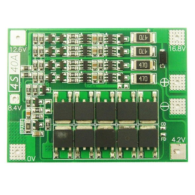 4S 14.8V 16.8V Li-ion Lithium 18650 Battery Cells Charging Module Balance Board