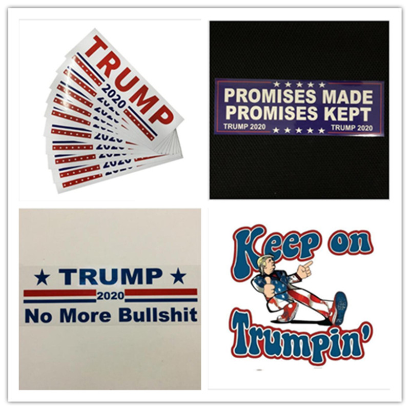 11 types Donald Trump 2020 Car Stickers 7.6*22.9cm Bumper wall Sticker Keep Make America Great Decal for Car Styling Vehicle Paster election