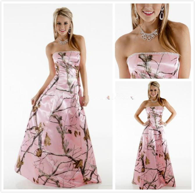 Wholesale Pink Realtree Camo Wedding Dresses Buy Cheap In Bulk From China Suppliers With Coupon Dhgate Com