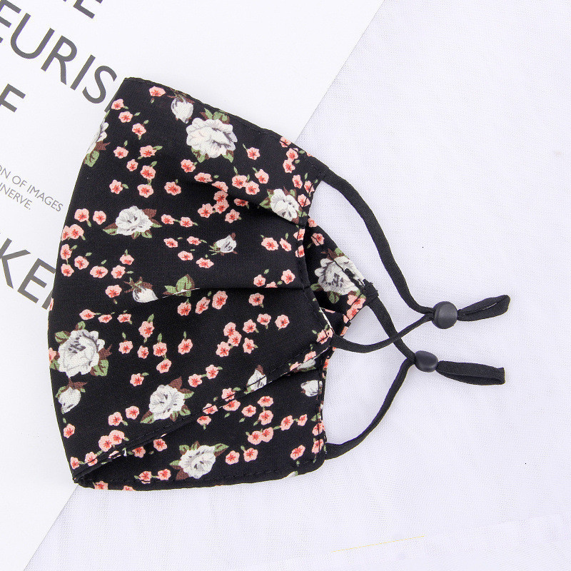 Woman Chiffon Sunscreen Mask Spring Summer Breathable Lady Mouth Masks Washable Reusable Mask Floral Face Masks