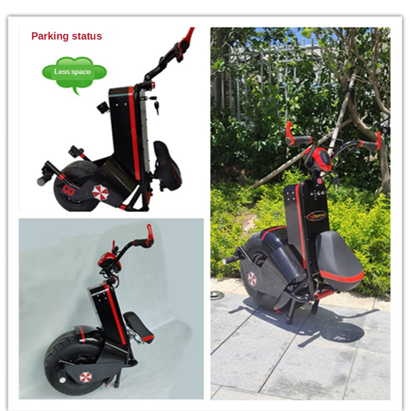 Electric Scooter 1500W One Wheel Self-balancing Scooter Motorcycle Seat 110KM 60V Electric Monowheel Scooter 18 Inch Wide Wheel (21)