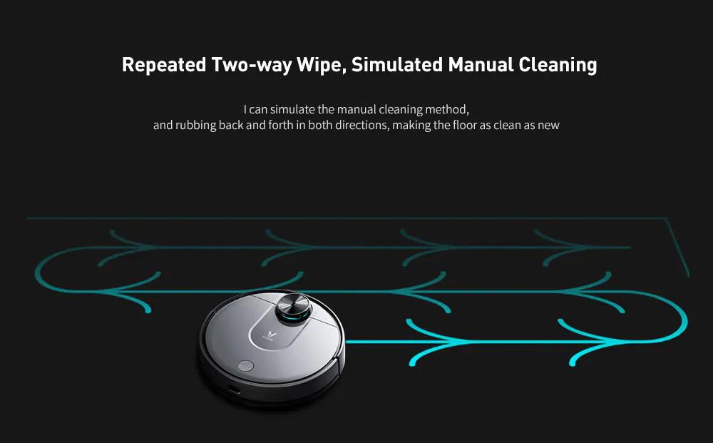 VIOMI V2 PRO LDS 2 in 1 Sweeping Mopping Dust Collector, Home floor Carpet Smart Robot Vacuum Cleaner,Quiet, Mijia APP Control 4