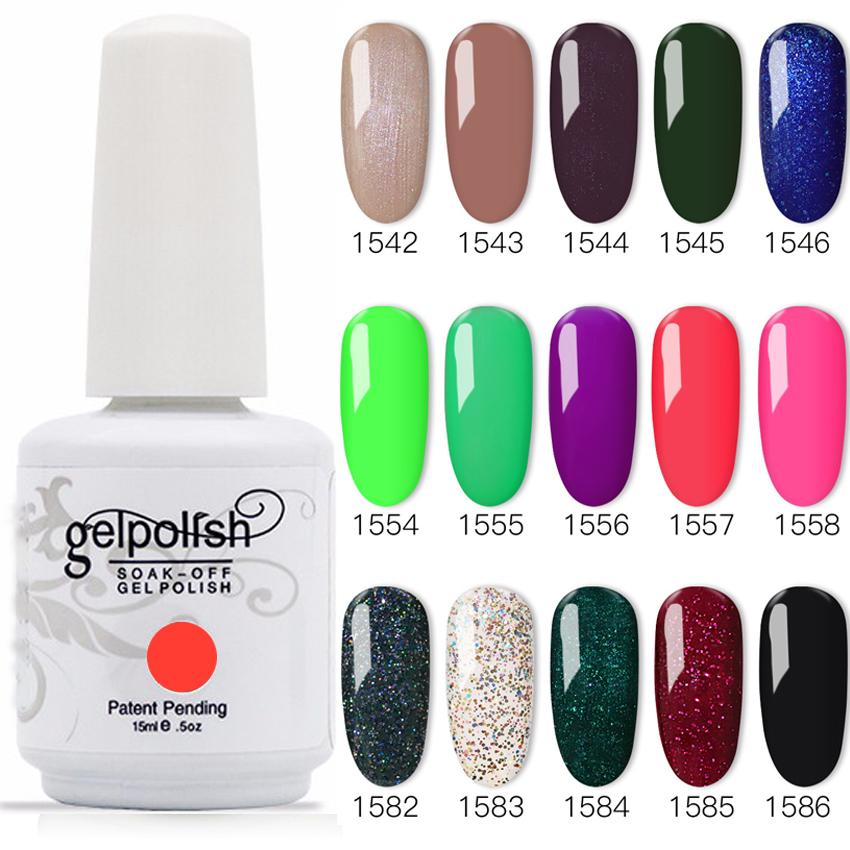 100% Brand New Gel Nail Polish Soak Off Nail Gel 403Colors 15ml 12Pcs/lot 15ML Free Shipping