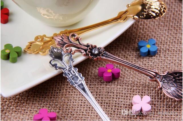 Vintage Alloy Coffee Spoon Crown Palace Carved Dining & Bar Tableware Small Tea Ice Cream Sugar Cake Dessert Dinnerware Spoons Scoop
