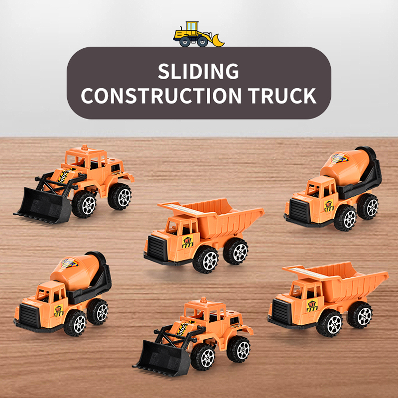 1:64 Diecast Escavatore a ruote Digger Truck Model Car Giocattolo educativo per
