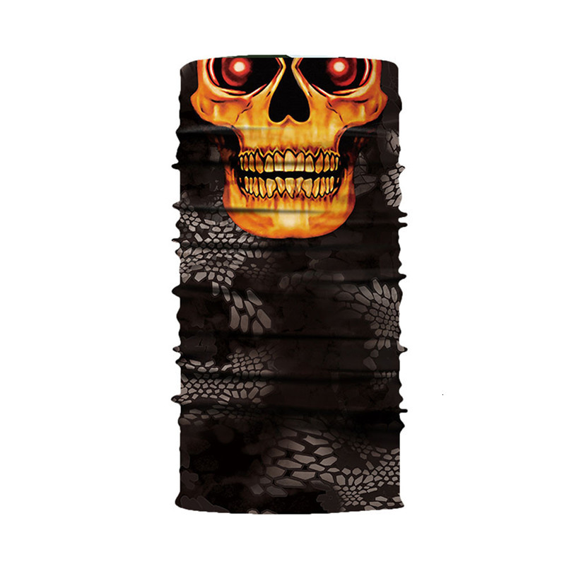 Skull Face Mask Scarf Halloween Party Face Mask Bike Face Mask Ghost Balaclava Masks Cycling Motorcycle Head Scarf Neck #F30ST02 (8)