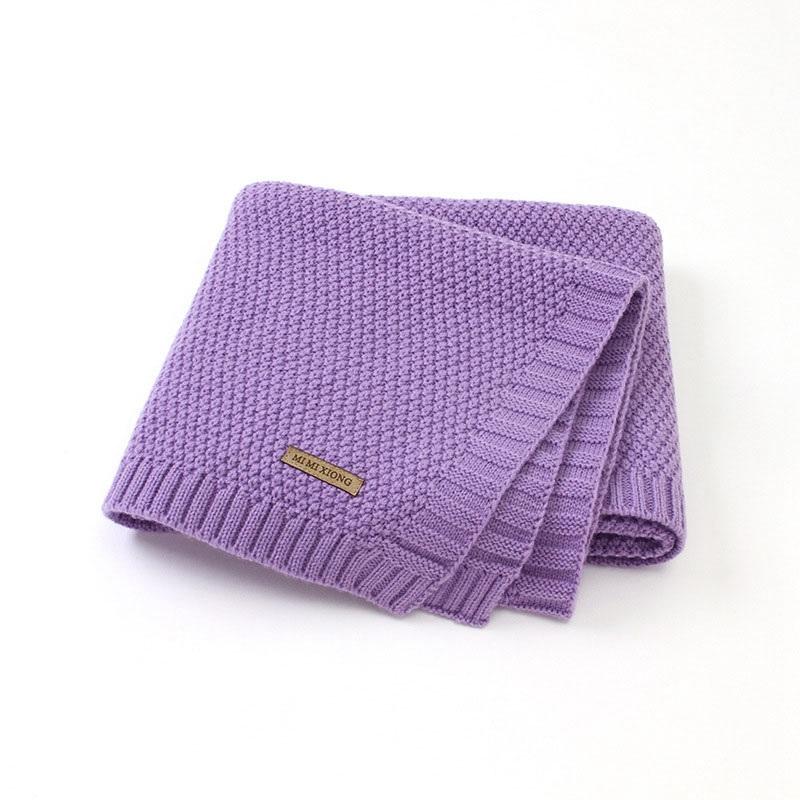 MOTOHOOD Kids Blanket Casual Baby Blankets Knitted Newborn Swaddle Wrap Soft Toddler Sofa Crib Quilt Baby Stroller Blanket (2)