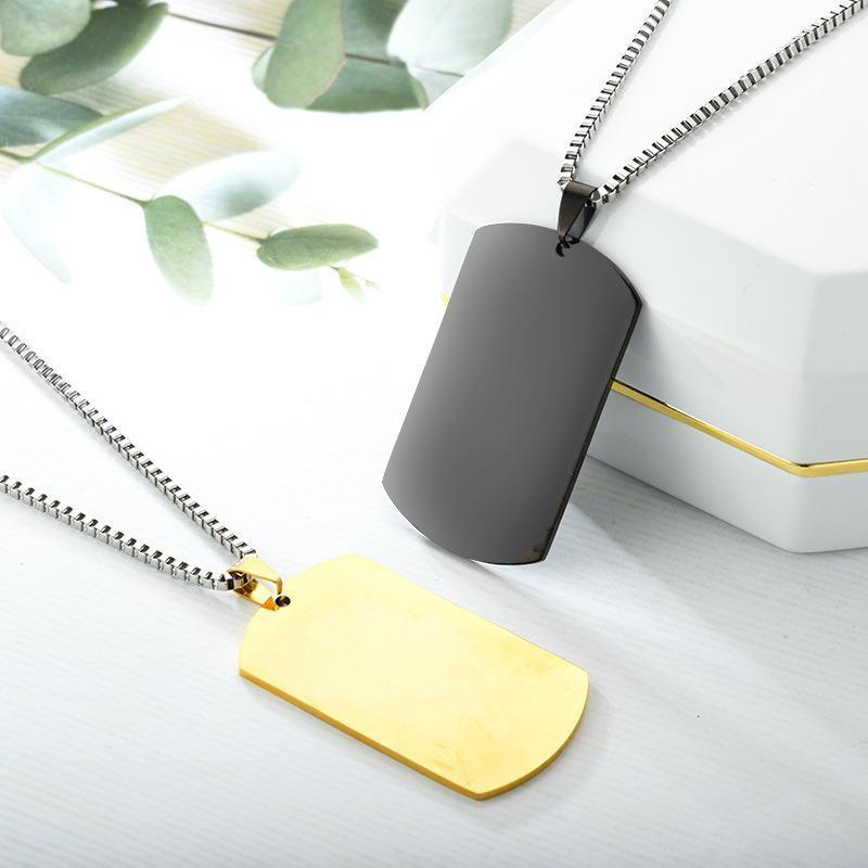 Dog Puppy Collar Pendant Tag Stainless Steel Dog Pet Tag Metal Blank Customized Cat Dog Tag Men Pendant Military Necklace Pendant BH2549 TQQ