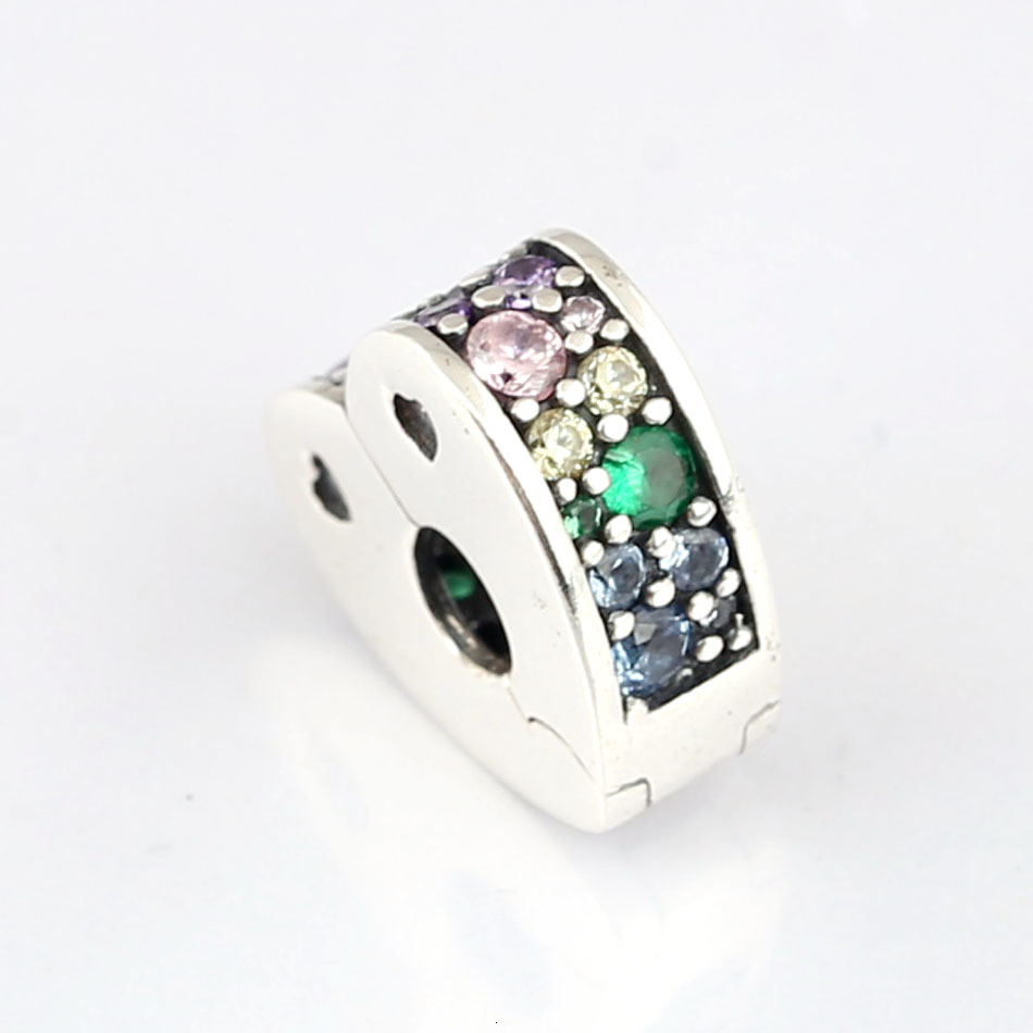 Platinum Rose Gold Spacer Beads Rubber Locks Rings Stoppers for Jewelry Making