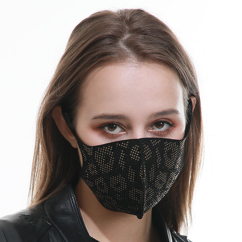 Outdoor sunscreen dust mask Daisy cotton mask fashion black leopard pattern breathable mask