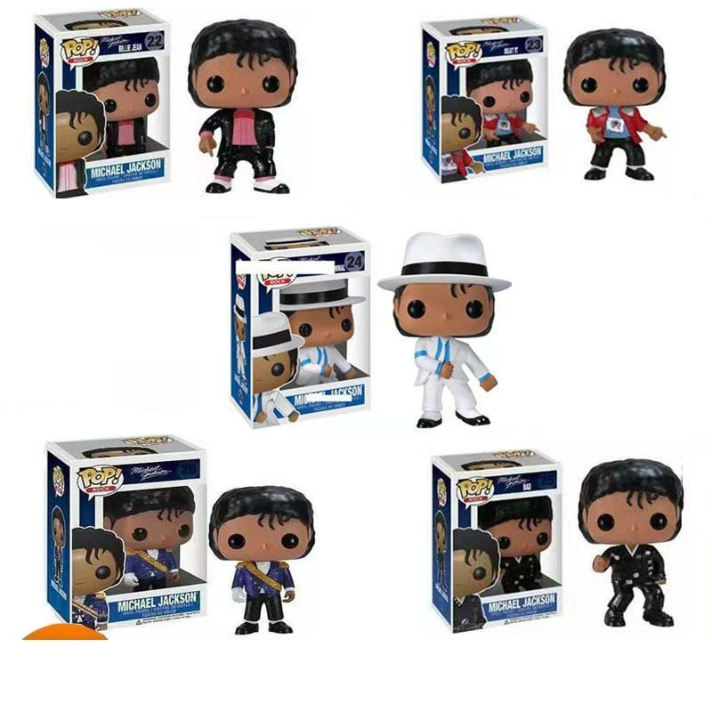 5 Styles Funko Pop Michael Jackson Action Figures Doll Toys 10cm PVC Action Music Superstar Doll Model Toys Kids Gift L544