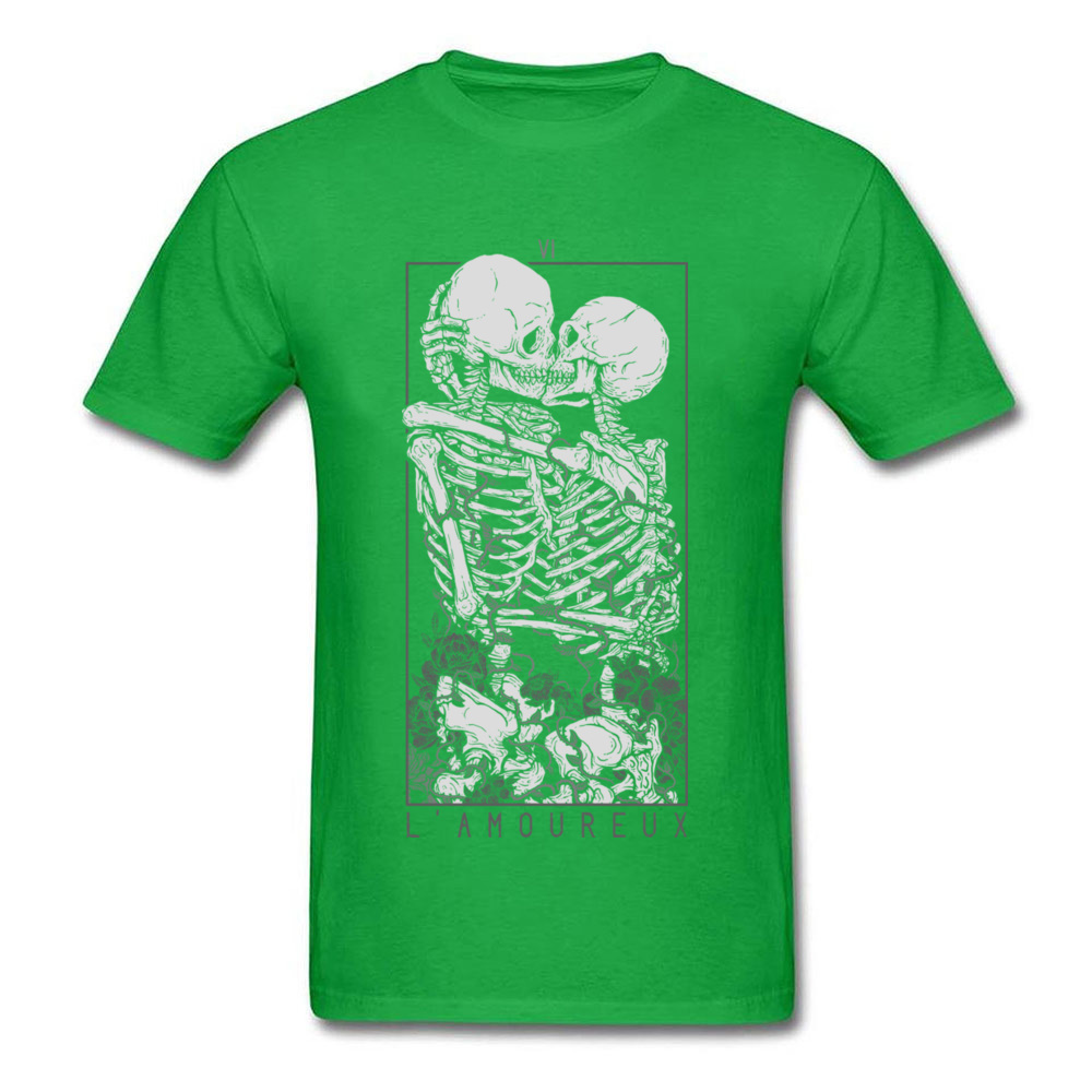 The Lovers Summer Autumn Pure Cotton Crew Neck Tees Short Sleeve Summer Clothing Shirt New Design Design T Shirt The Lovers green