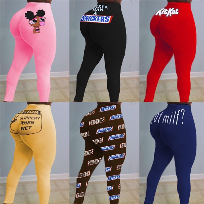 Women yoga S-2XL one piece leggings letter print fashion designer fall winter casual clothing fashion bodycon pants skinny capris DHL 3743