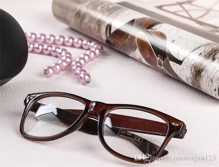 19 candy colors Unisex sunglasses Rivet Sunglasses Retro Color Unisex Punk Geek Style Clear Lens Glasses R053
