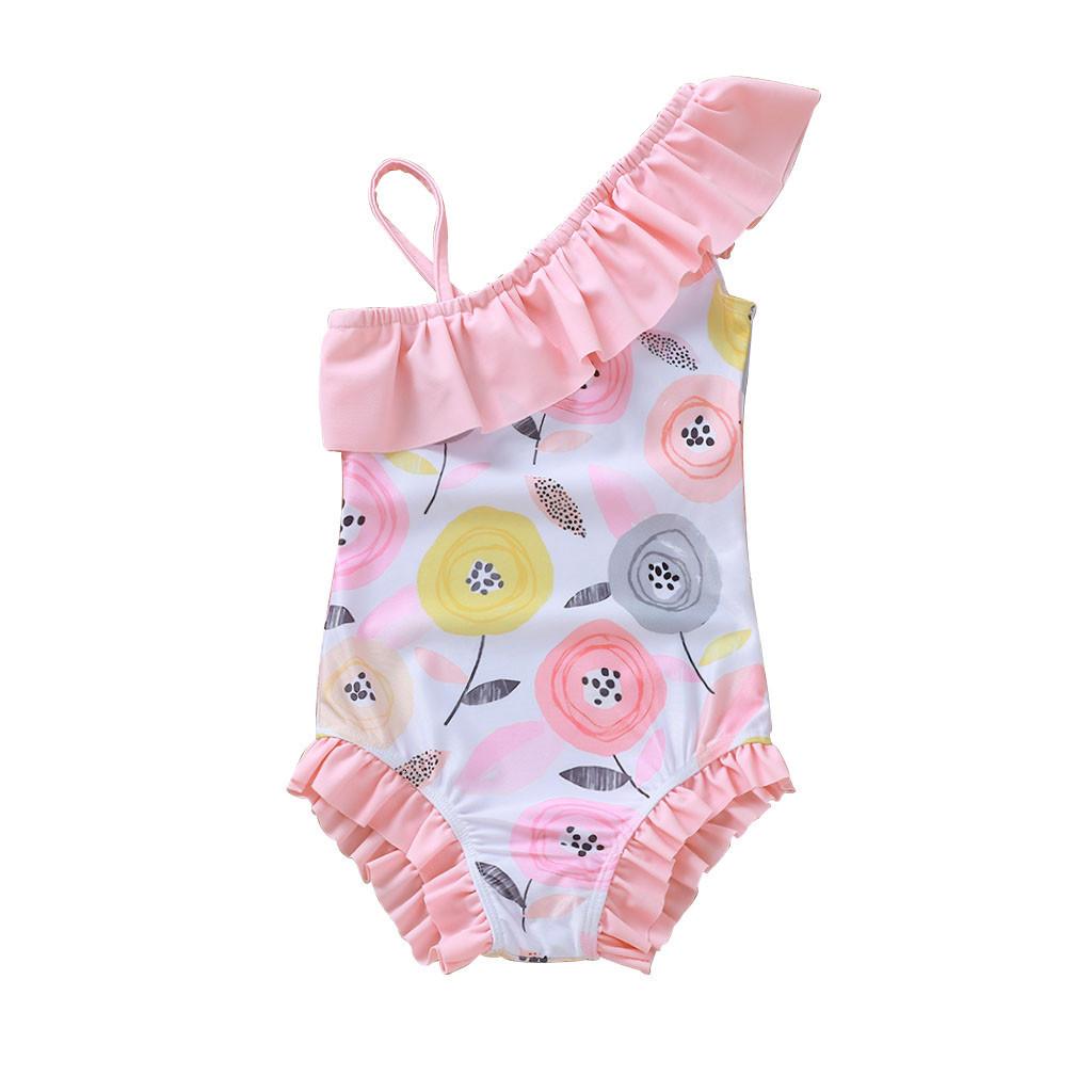 Sleeveless Swimsuits for Girls Kids Novelty Printed Beach Swimwear 5-12 Years Bathing Suits