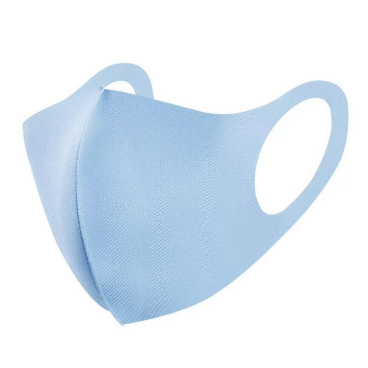 Mouth Ice Mask Anti Dust Face Cover PM2.5 Respirator Dustproof Washable Reusable Ice Silk Cotton Masks Adult Children