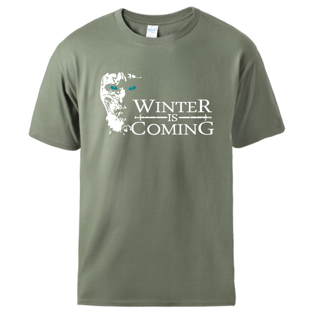 Tshirts Game Of Thrones House Of Stark Winter is Coming Mens Summer Tee 2020 Casual Sportswear Cool Short Sleeve Tracksuits Tee