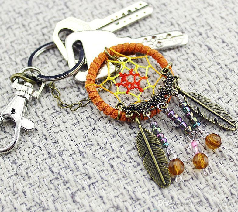 2017 new arrival hot sale North American creative keychain pendant handmade catch dream net key chain