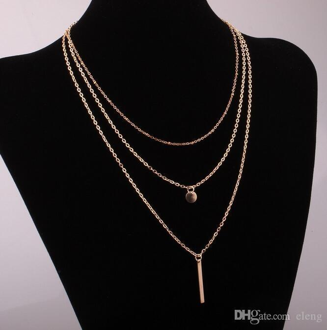 2016 new arrival charm jewelry women necklaces steampunk pendants Copper beads Multilayer necklace EXL98