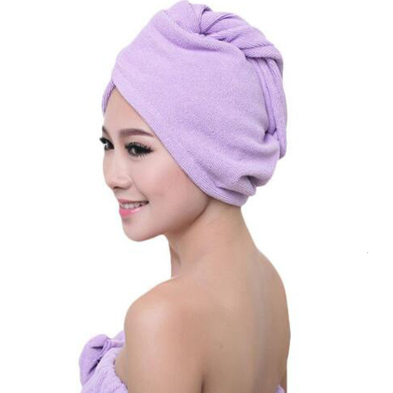 Microfibre After Shower Hair Drying Wrap Womens Girls Lady Towel Quick Dry Hair Hat Cap Turban Head Wrap Bathing Tools