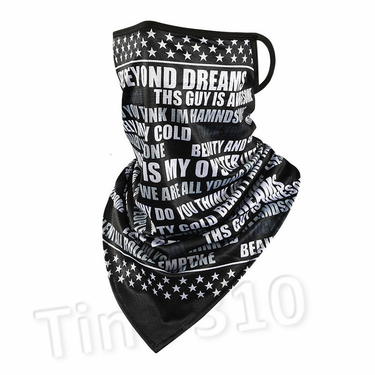 America Magic scarf sunscreen ice silk riding mask breathable printed triangle scarf for men and women Party masks T2I51128