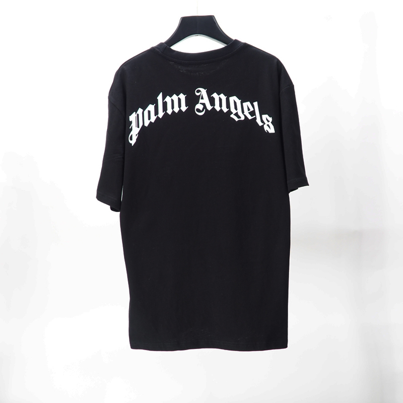 2020ANGELS Beauty tide PALM printing ANGELS PA loose casual sports round neck short sleeve T-shirt men and women 080703-01