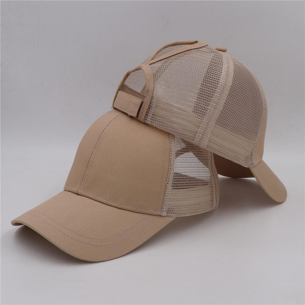 plain solid Ponytail Baseball Cap Messy Buns hat Trucker Pony caps unisex Visor Cap Dad Hat mesh summer outdoor Snapbacks c0256