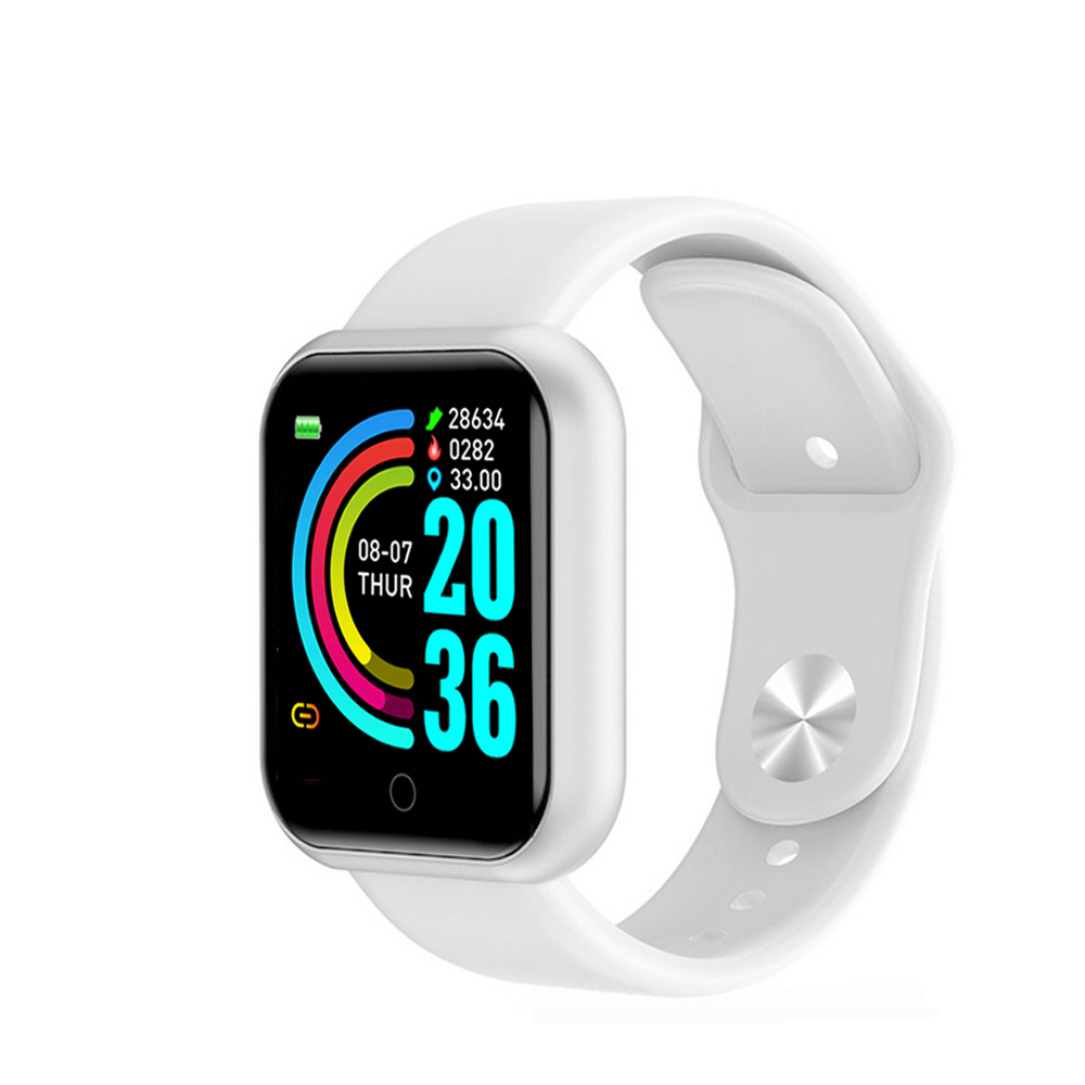 Y68 Smart Watch Women D20 Pro Men Smartwatce for Android IOS Heart Rate Monitor Blood Pressure Sports Tracker Smart Wristband-6