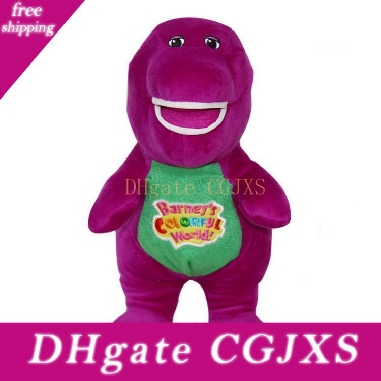 """A Barney The Dinosaur Plush 11"""" Sing I Love You song Purple Plush Soft Toy Doll"""