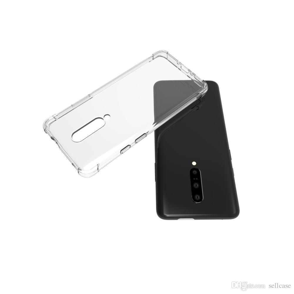 Soft TPU Crystal Transparent Slim Anti Slip Full-Body Protective Phone Case Cover for oneplus 7/1+7