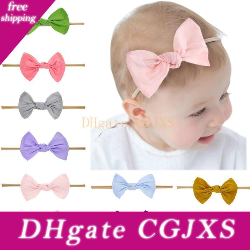 6pcs Makone Baby Bows Headband Newborn Hairbands Stretchy Nylon Child Hair Accessories Hair Bow Headband for Infant Toddler Baby Girls 5.5 inch