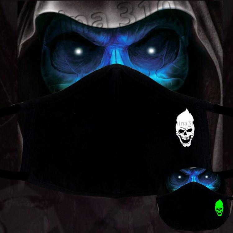 hot Skull Mask three dimensional luminous Face Mask personality warm windproof Anti Dust mask Designer Masks T2I51231