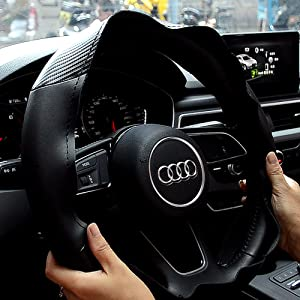 1.Clean the steering wheel cover and put it on the steering wheel