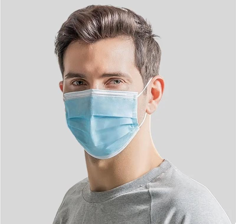Protective Masks Anti-dust Disposable Pollution Filter Anti Mouth 3-layer Masks Face Safety Non-woven Unisex Pm2.5 suPrw wrhome