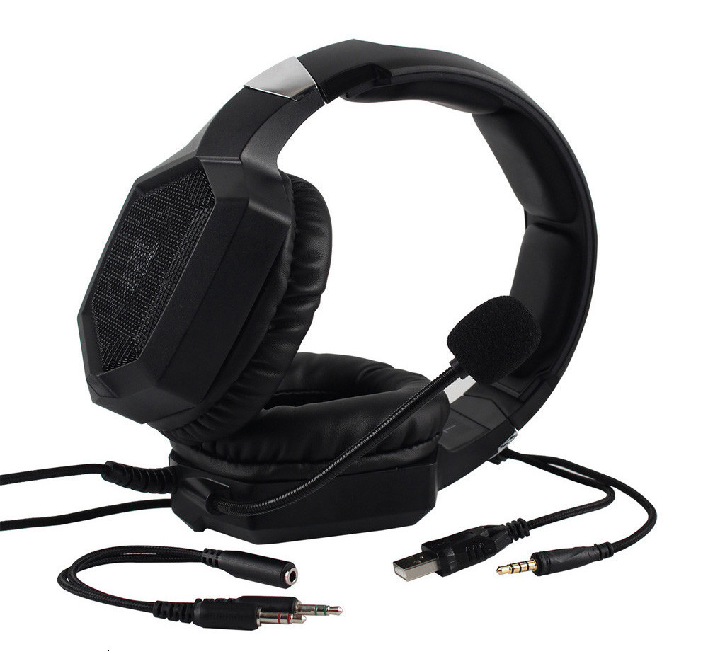 3.5mm Gaming Headphones casque Stereo Earphone Headset with Mic LED Light for Laptop Tablet PS4 Gamepad (5)