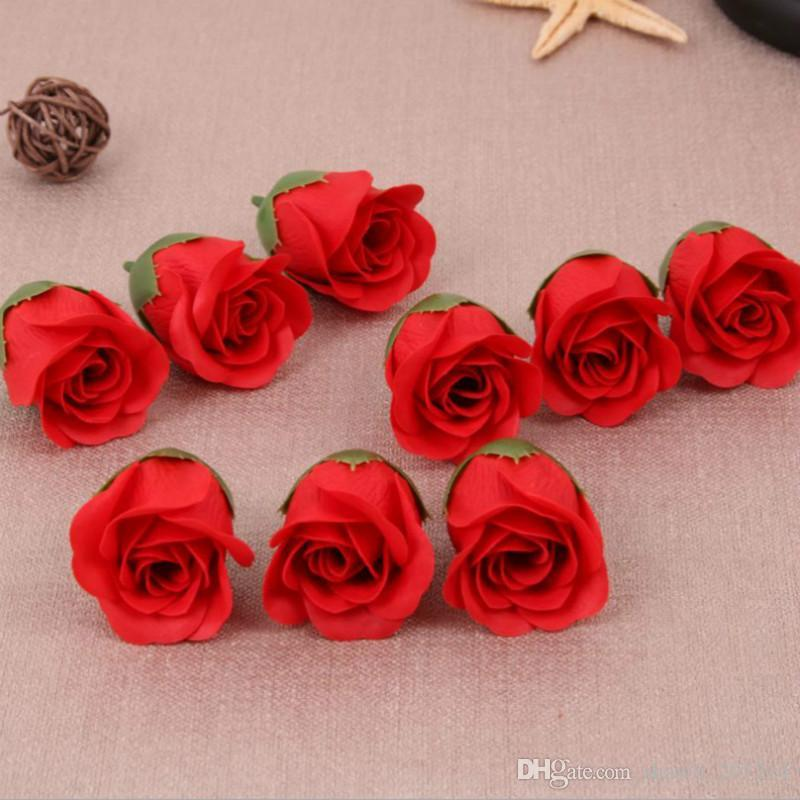 Wholesale Diameter 4cm Cheap Soap Rose Head beauty Wedding Valentine's Day Gift Wedding Bouquet Home Decoration Hand Flower Art