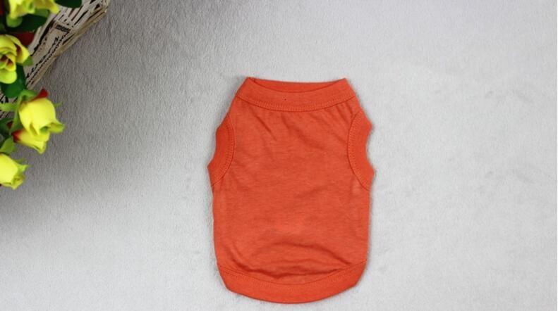 Pet Clothing Fashion Pure Color Top Shirts Vest Cotton Clothes Candy Color Dogs Vest Dog Apparel WY320