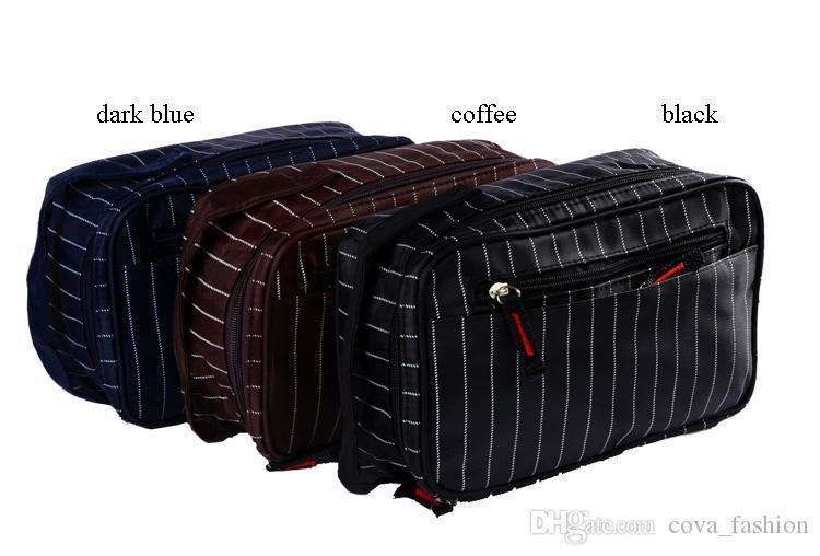 2016 new design hot sale oxford good quality stripe men wash bag for travel