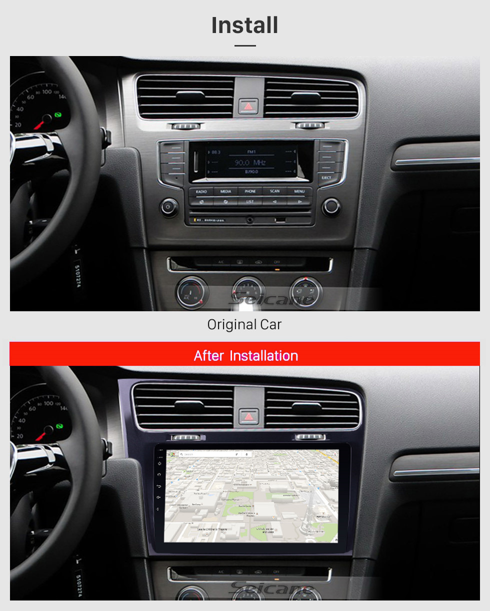 10.1 inch Android 10.0 Car dvd Player gps Navigation for 2013-2015 VW Volkswagen Golf with Bluetooth WIFI GPS Navigation
