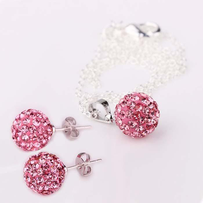925 Silver 10mm Crystal Disco Ball Bead Crystal Bead Fit