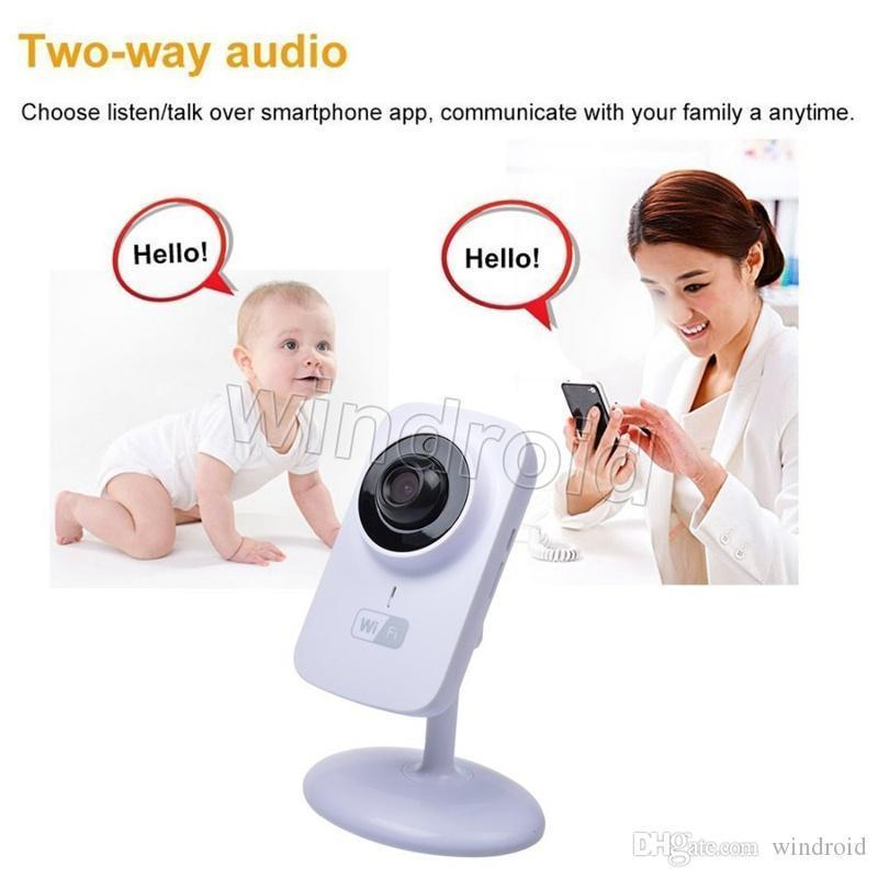 V380 720P P2P Mini Wireless Wifi IP Camera Baby Monitor for Home Security support Night Vision with retail package